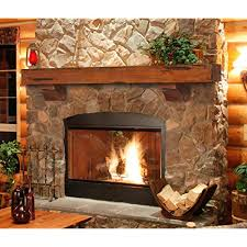 rustic wood mantel com
