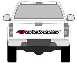 Chevrolet Silverado S10 Tahoe Sticker Window Bed Tailgate Vinyl Decal Chevy Hd Ebay