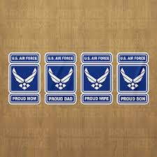 U S Air Force Proud Vinyl Decal Sticker Military Car Laptop Dad Mom Son Wife 2 99 Picclick