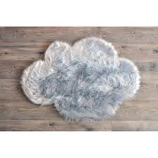 harriet bee deshazo faux sheepskin gray