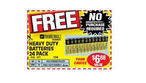 pack of heavy duty aa or aaa batteries