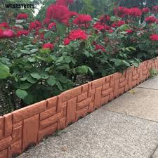 I Shop Home Garden Border Edging Plastic Fence Lawn Flower Bed Trimmed Fence Path Green Cod Shopee Philippines