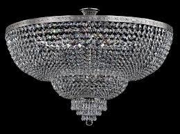crystal semi flush antique silver