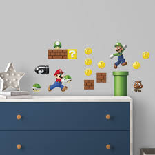 Roommates Nintendo Super Mario Build A Scene Peel And Stick Wall Decals Walmart Com Walmart Com