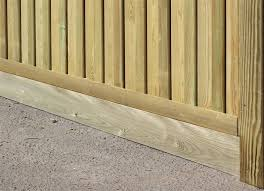 Gravel Board For Use With Slotted Posts Jacksons Fencing