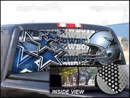 Dallas Cowboys Truck Window Tint P09 Dallas Cowboys Rear Window Tint Graphic Decal Universal F150 Ram Dallas Cowboys Tinted Windows Cowboys