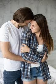 loving affectionate man hug friend
