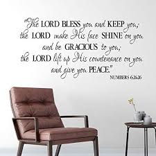 Amazon Com Numbers 6 24 26 Vinyl Wall Decal 1 By Wild Eyes Signs The Lord Bless You And Keep You Benediction Blessing Church Wall Art Bible Wall Words Modern Christian Home Decor Num6v24 0001 Handmade