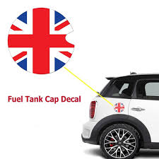Xotic Tech 1x Red Blue Union Jack Uk Flag Pattern Vinyl Sticker Decal For Mini Cooper Gas Cap Cover Walmart Com Walmart Com