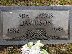 Martha Ada Jarvis Davidson (1882-1958) - Find A Grave Memorial