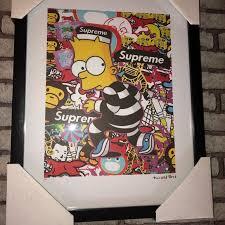 Supreme Wall Art Fairchild Paris Bart Simpson Framed Print Poshmark