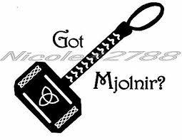 Vinyl Got Mjolnir Thors Hammer Decal Tablet Car Decal Art N Crafts Embelish 3 25 Picclick