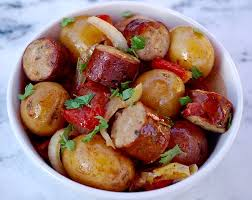 slow cooker sausage and potatoes the