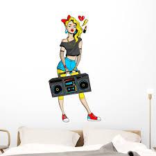 Retro 80s 90s Pop Art Woman Wall Decal Wallmonkeys Peel And Stick Graphic 48 In H X 30 In W Wm502701 Walmart Com Walmart Com