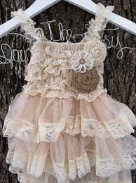 burlap rose flower dress country
