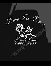 Rest In Peace Rose Car Vinyl Decal Car Decals Vinyl Vinyl Decals Peace Rose