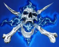 blue skulls wallpaper on wallpapersafari