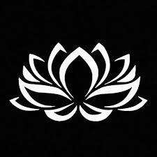 Amazon Com Lotus Flower White Vinyl Car Window Decal Sticker White Automotive