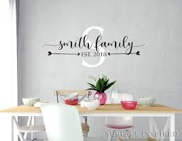 Personalized Family Name Monogram Wall Decal Vinyl Wall Art Smith Fami Surface Inspired Home Decor Wall Decals Wall Art Wooden Letters