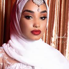mana mumin black bridal makeup artist