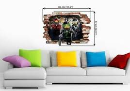 Lego Ninjago Wall Stickers Wall Decal Art Decor Vinyl Mural Boys Bedroom 57x80cm Ebay