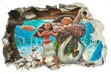 Moana Wall Decal Hei Hei Cave Entrance Sticker 3d Effect Pua Childs Bedroom Ebay