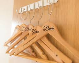 8 X Different Wedding Bridal Party Vinyl Coat Hanger Role Names Decal Stickers Ebay