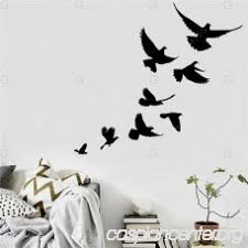 Wall Stickers Black Birds Battern Vinyl Wall Sticker For Home Decoration 03101