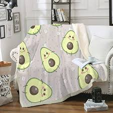 Amazon Com Avocado Blanket Cute Fruit Throw Blanket For Kids Sherpa Fleece Blanket Cute Cartoon Avocado Decor Blankets Fuzzy Soft Blanket For Sofa Bed And Couch Twin Avocado Twin 60 X80 Home Kitchen