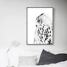 Wall Art Green Forest Poster Black White Owl Canvas Painting Posters Prints Nordic Two Pieces Picture Unframed With Free Shipping Worldwide Weposters Com