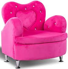 Amazon Com Costzon Kids Sofa Toddler Ultra Soft Velvet Armrest Chair Couch For Girls Bedroom Living Room Children Furniture Rose Kitchen Dining