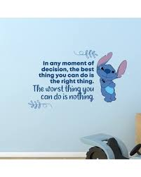 Savings On Lilo And Stitch Nothing Vinyl Wall Decal Design With Vinyl Size 15 H X 30 W