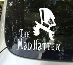 Fun Stickers Mad Hatter Car Decals Etsy