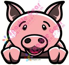 Pig Window Decal Sparkle Gear