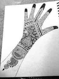 Mehndi Design Full Hand Sketch
