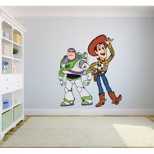 Toy Story Woody Buzz Lightyear Colorful Decors Wall Sticker Art Design Decal For Girls Boys Kids Room Bedroom Nursery Kindergarten House Fun Home Decor Stickers Wall Art Vinyl Decoration 20x12 Inch