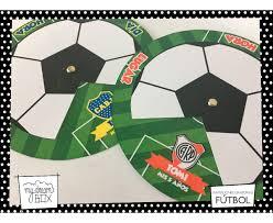 Tarjetas Invitacion Circular Evento Futbol Pelota Boca River