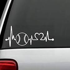 Amazon Com Bluegrass Decals K1103 Baseball Softball Heartbeat Lifeline Decal Sticker Automotive