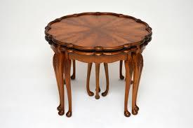 antique walnut coffee table nest