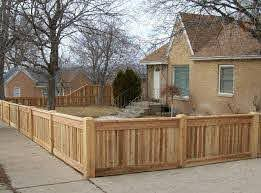 Pin By Susan Simmons On Housing Ideas Wood Fence Design Front Yard Fence Fence Design