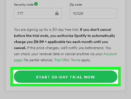 free trial of spotify premium