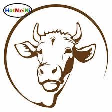 Hotmeini Car Styling Jersey Cow Head Animal Vinyl Decal Car Sticker Laptop Bumper Window Waterproof 13 13 Cm Car Stickers Aliexpress