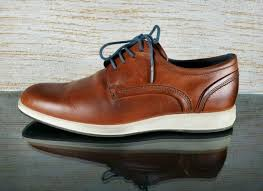 mens casual brown leather lace up shoes