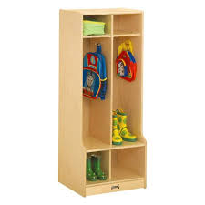 Kids Wooden Coat Locker With Seats And Cubbies