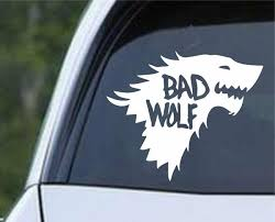 Game Of Thrones Bad Wolf Stark Direwolf Dr Who And Got Mash Up Die C Decals City