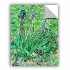 Artwall The Iris By Vincent Van Gogh Removable Wall Decal Wayfair