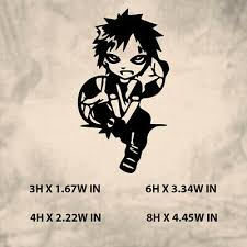 Naruto Gaara Chibi Anime Decal Sticker For Car Truck Laptop 6 99 Picclick