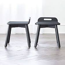Black Kids Chairs Crate And Barrel