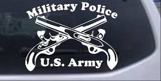 Military Police Cross Pistols With Text Car Or Truck Window Decal Sticker Rad Dezigns