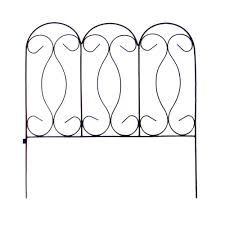 Vigoro Yorkshire 24 In Wrought Iron Garden Fence 51042 The Home Depot